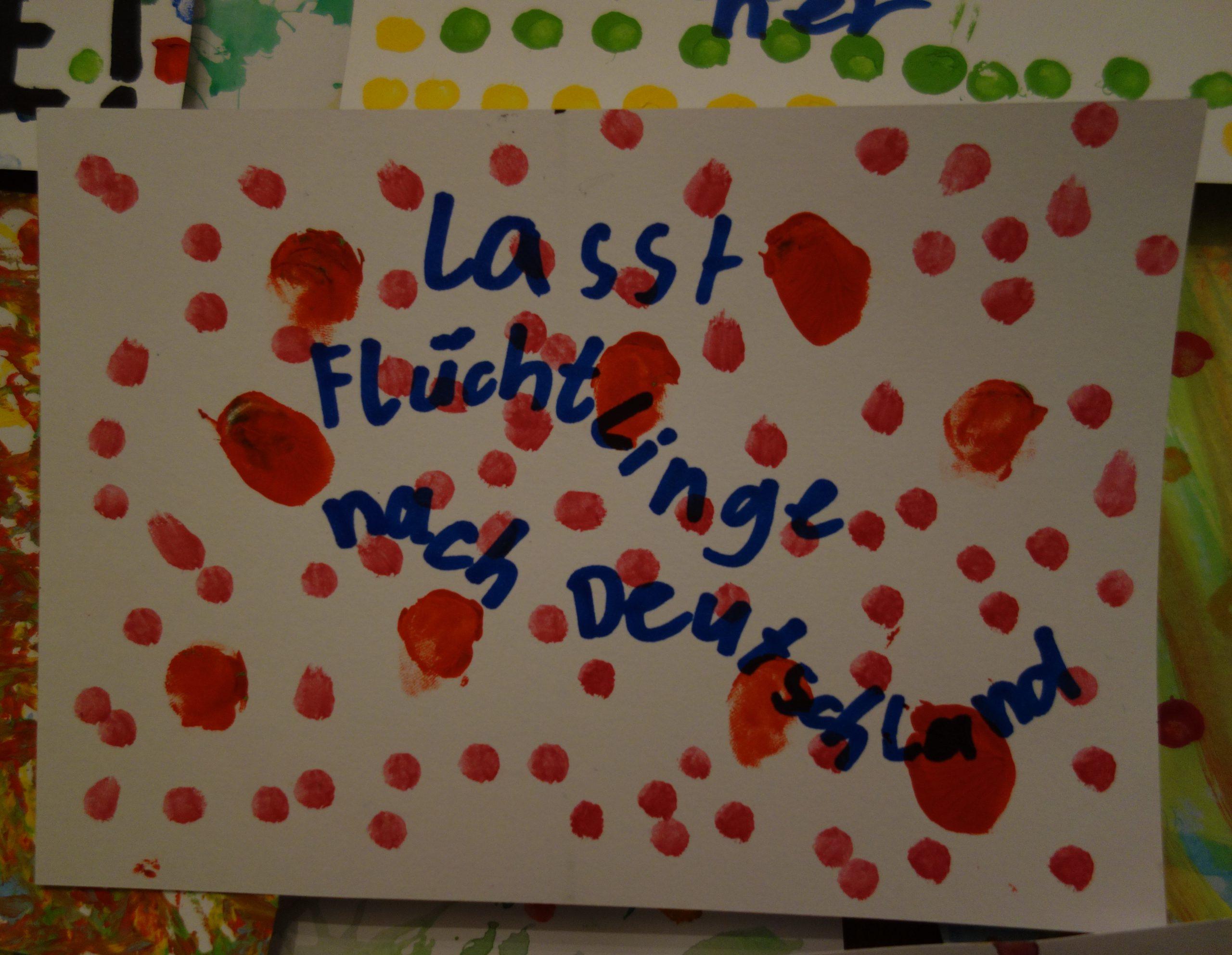 Postkarte mit Botschaft